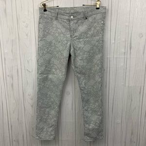 🧣 3/$20 NY&CO ANKLE LEGGING FLORAL JEANS 8